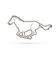 horse running cartoon graphic vector image vector image