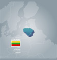 lithuania information map vector image vector image