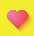 love heart icon in pink color vector image