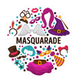 masquerade costumes carnival or halloween vector image vector image