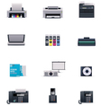 Office electronics icon set vector | Price: 5 Credits (USD $5)