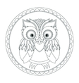 owl Picture for coloring vector image vector image