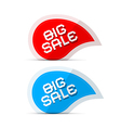 Paper Big Sale Icons Isolated on White Background vector image