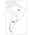 political map of south america simple flat vector image vector image