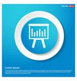progress graph icon abstract blue web sticker vector image
