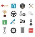 racing car icon set vector image