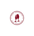 red wine rubber stamp vector image