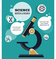 Research Bio Technology and Science infographic vector image