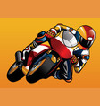 riding the sportbike vector image vector image