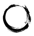 round frame grunge textured hand drawn element vector image vector image