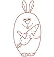 rubbit carrot vector image