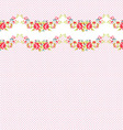Seamless border Pattern with red roses vector image