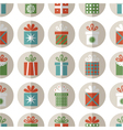 Seamless pattern of flat gift packages vector image