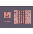 Set of fashion simple icons vector image vector image