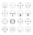 set sniper sights - modern realistic vector image