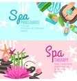 Spa Banners Set vector image
