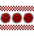 time and checkered flag vector image vector image