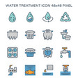 water treatment plant and septic tank icon 64x64 vector image vector image