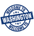 welcome to washington blue stamp vector image vector image
