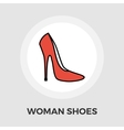 Woman shoes flat icon vector image vector image
