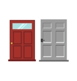 Wood two red and gray elegant entrance door vector image vector image