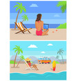 work by seaside freelance set vector image vector image