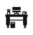 work desk icon vector image