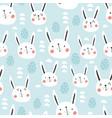 bunny egg pattern vector image