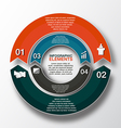 circle arrows for infographic template for cycling vector image