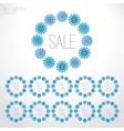 Set of Christmas sale templates vector image