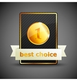 a best choice label vector image vector image