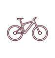 bike flat icon vector image vector image