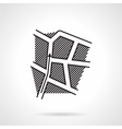 Black line icon for direction map vector image vector image