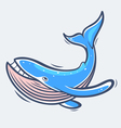 Blue whale sea life vector image vector image