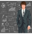 Business man sketch background vector image vector image