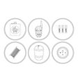 Camping icons set Linear vector image vector image