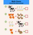 cartoon educational mathematical game vector image vector image