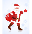 Christmas card with Santa Claus for your design vector image