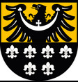 coat of arms of trzebnica county in poland vector image vector image