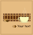 Coffee style patchwork for invitation vector image vector image