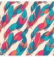 Colorful seamless pattern with feathers vector image