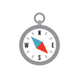compass - flat style icon on white background vector image