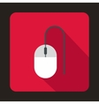 Computer mouse icon in flat style vector image vector image