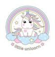 cute baunicorn on a rainbow vector image