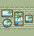 day summer beach frames on a wall vector image