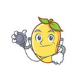 doctor mango character cartoon mascot vector image vector image