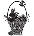 easter woodcut vector image
