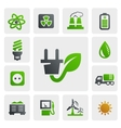 eco energy icons vector image vector image
