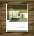 elegant brochure design for your business vector image vector image