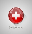 European flags set - Switzerland vector image vector image
